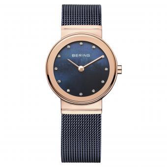 Damenuhr BERING Classic 26mm Blau Rosé 10126-367