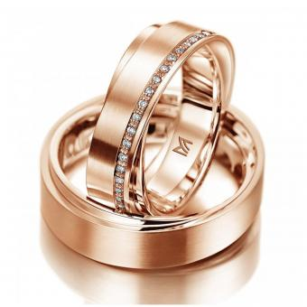 Meister Trauring Ring Double Rotgold
