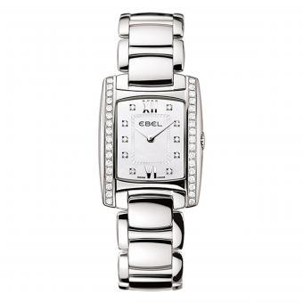 EBEL Brasilia Damenuhr Silber Perlmutt Diamanten