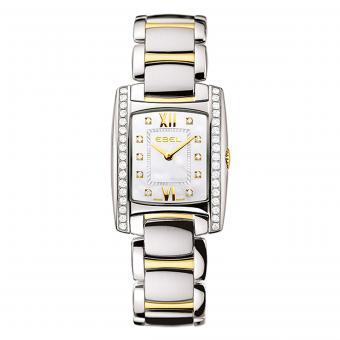 EBEL Brasilia Damenuhr Silber Perlmutt Gold Diamanten