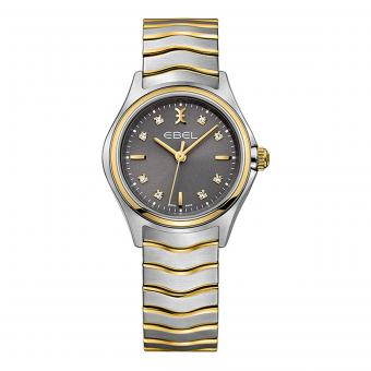 EBEL Wave Damenuhr Bicolor Gold Anthrazit