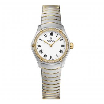 EBEL Sport Classic Damenuhr Small Gold Diamanten Weiß