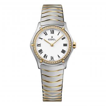 EBEL Sport Classic Damenuhr Gold Diamanten Weiß