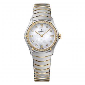 EBEL Sport Classic Damenuhr Gold Diamanten Perlmutt