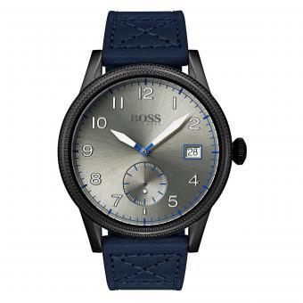 Hugo Boss 1513684 Herrenuhr Legacy Grau Leder