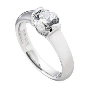 Verlobungsring Silber Solitär