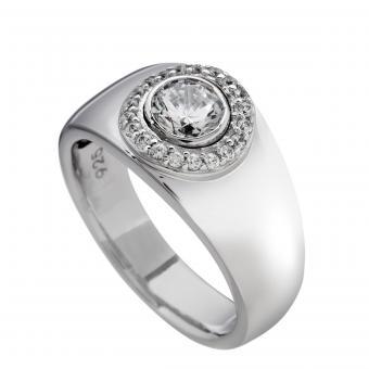 Verlobungsring Unique Silber