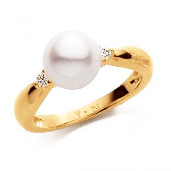 Perlenring 750 Gelbgold