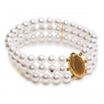Dreireihiges Perlenarmband