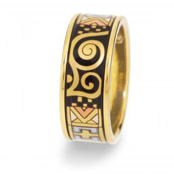 Frey Wille Ring breit - Gustav Klimt Goldplattierung