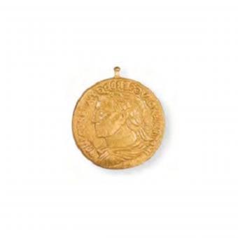 Heide Heinzendorff Anhänger Münze 23mm Gold Matt