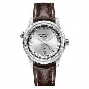 Hamilton Uhr Jazzmaster GMT Silber H32605551