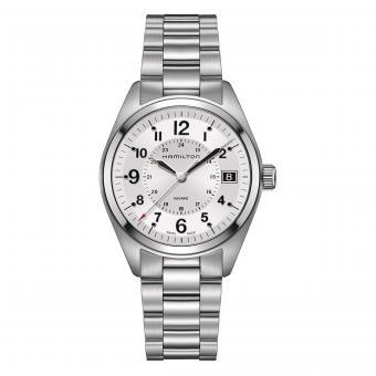 Hamilton Uhr Khaki Field Quarz Silber H68551153