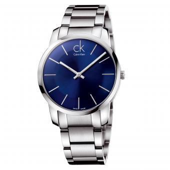 Calvin Klein K2G2114N Uhr City Gent Stahlband Blau