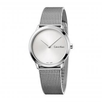 Calvin Klein K3M221Y6 Uhr Midsize Minimal Mesh Silber