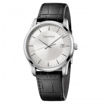 Calvin Klein K5S341C6 Uhr Infinite Automatik Silber Leder