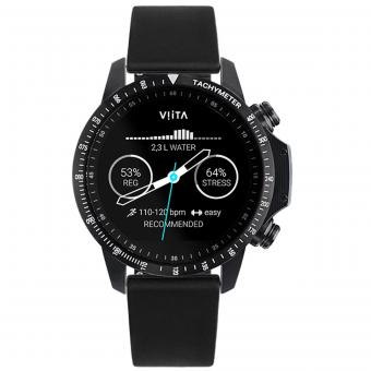 VIITA Active HRV Tachymeter  black-Leather Smooth