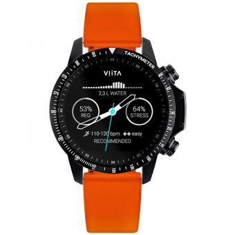 VIITA Active HRV Tachymeter  black-Silicon Orange